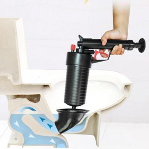 Pompe à Air pour salle de bain, pistolet de vidange de puissance à Air, prise de drague de toilettes, nettoyeur de vidange de salle de bains