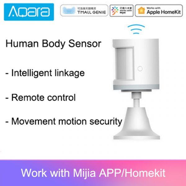 100% Aqara Human Body Sensor ZigBee Movement Motion Security Wireless Connection Light Intensity Gateway 2 Mi home APP