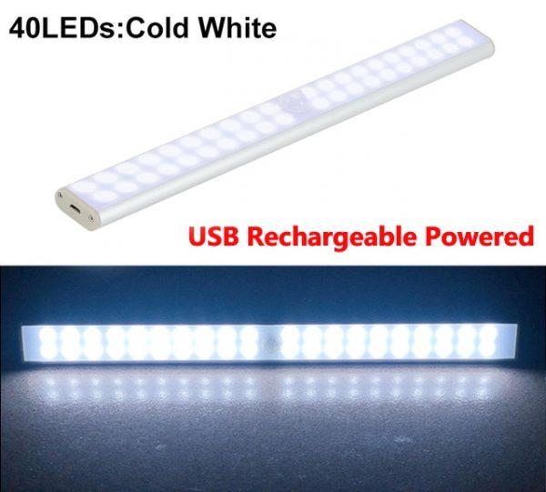 6 10 24 40 60 LEDs Under Cabinet Night Light Motion Sensor Closet Light Kitchen Bedroom Lighting Wall Lamp With Magnetic Strip