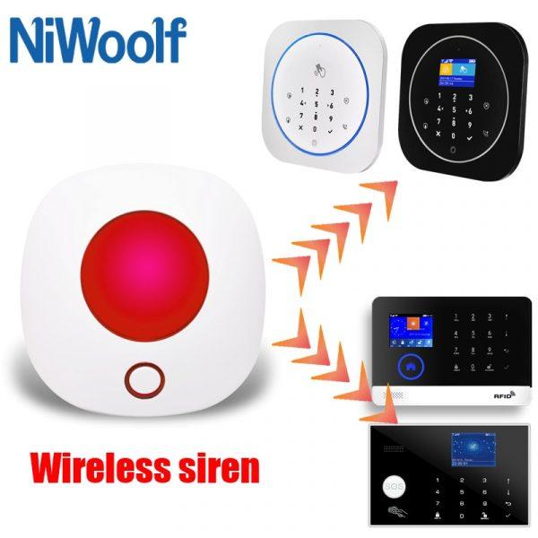 2020 indoor wireless siren 433MHz strobe siren alarm and tuya wifi Light Siren Alarm 100dB for our tuya wifi gsm alarm system
