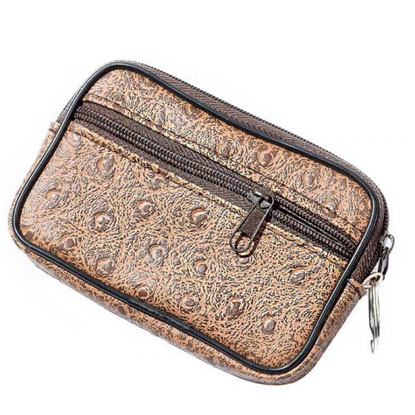 Hommes petit sac de monnaie Style décontracté fermeture éclair changement sac à main pochette portefeuille pochette sac sac à main Mini doux hommes femmes carte pièce porte-clés