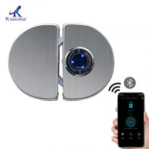 Free Drill Electronic Smart Glass Door Lock for Home Office Keyless Lock for Single Double Door Bluetooth Lock APP Control