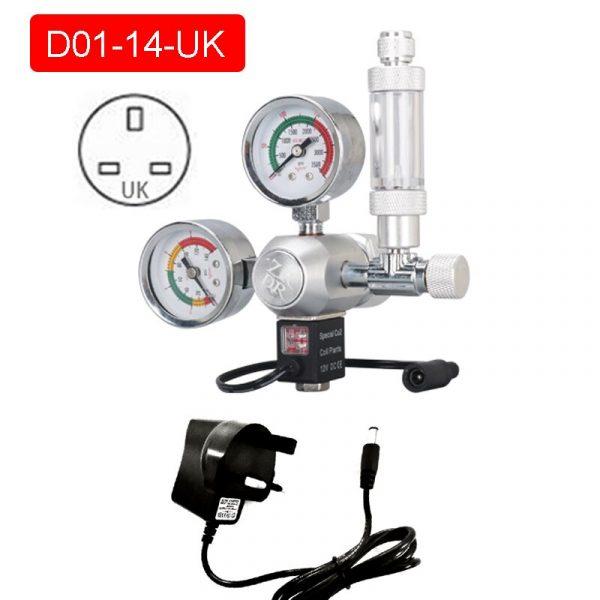 Fish Tank DIY CO2 Regulator Solenoid Vvalve Bubble Counter Fine-Tuning Valve CO2 Reaction Control System Pressure Reducing Valve
