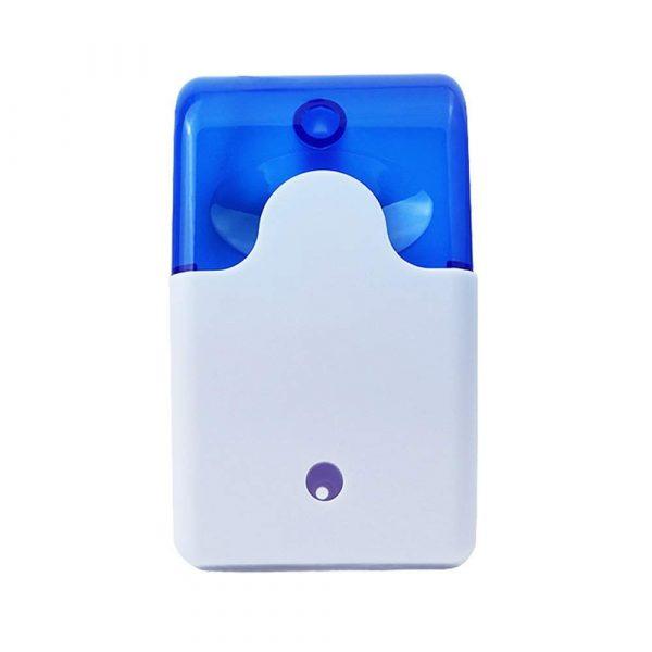 Home Security 12V 24V 220V 110DB Mini Strobe Sirens Sound Alarm Red Blue Indicator Light Wired Alarm Sirens EU Plug