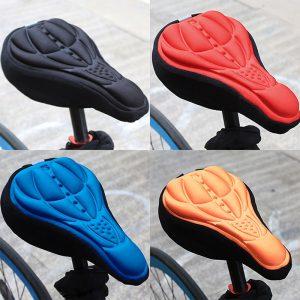 Housse de selle de vélo 3D souple, confortable, mousse, coussin de selle, accessoires de cyclisme