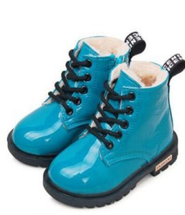 Bottes Martin imperméables en cuir PU pour enfant fille,nouvelle collection de chaussures d'hiver tailles 21 à 37,