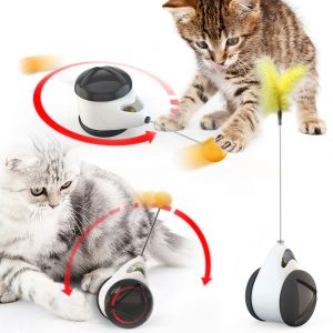 Tumbler Swing Toys for Cats Kitten Interactive Balance Car Cat Chasing Toy With Catnip Funny Pet Products for Dropshipping