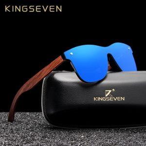 KINGSEVEN — lunettes de soleil polarisées en bois, modèle original et tendance pour hommes