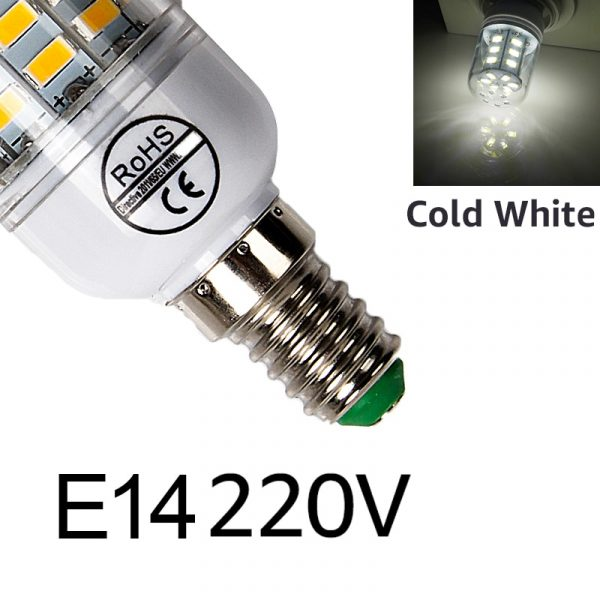 Goodland E27 LED Lamp 220V LED Bulb SMD 5730 E14 LED Light 24 36 48 56 69 72 LEDs Corn Bulbs Chandelier For Home Lighting