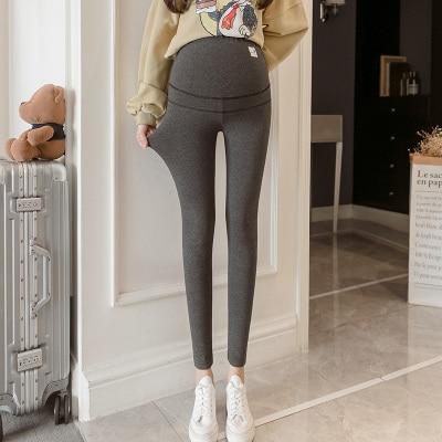 Legging de maternité slim en coton et de coupe V pour femme enceinte,pantalon filiforme décontracté, taille basse, vêtement de grossesse, collection automne, 801#,
