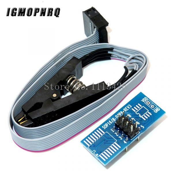 Module de programmation Flash BIOS USB, pince de Test SOIC8 SOP8 pour EEPROM 93CXX / 25CXX/24CXX, série CH341A 24 25