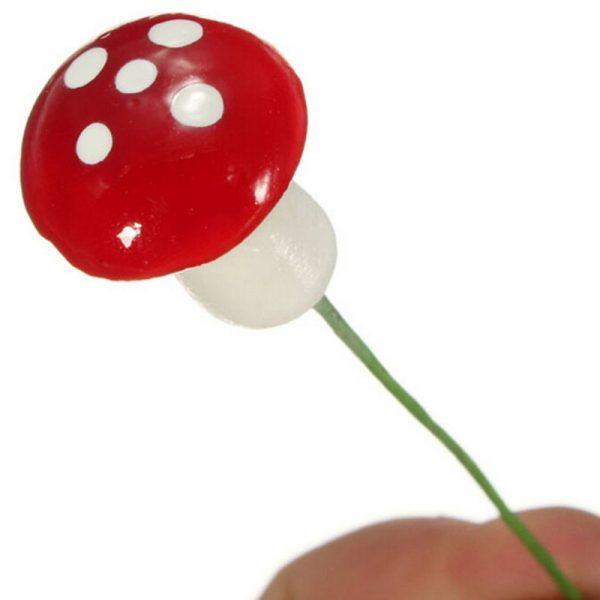 Mini champignons artificiels de 2 cm,10 pièces, mousse de Terrarium, pierreries artisanales, piquet de résine artisanat de décoration, nouvelle offre spéciale!