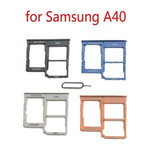 Slot de support de carte SIM pour Samsung Galaxy A40 A405 A405F A405FN A405FM, adaptateur de plateau de carte Micro SD Nano Original