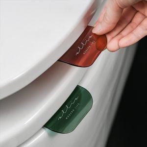 Support de siège de toilette, outil de fermeture sanitaire, poignée de levage de couvercle de siège de toilette, salle de bain, outil de nettoyage domestique hogar