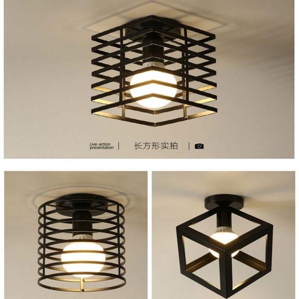 Retro Ceiling Lamp Vintage Ceiling Light Lamp Cozy Decor for Bed Room Corridor Dining room Black Loft 110V 220V E27 Socket