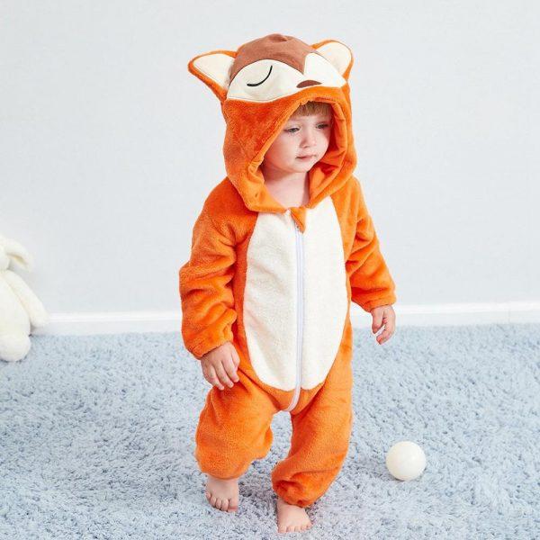 Barboteuse, costume d'animaux pour bébé, fille et garçon, combinaison, vêtement de nourrisson, pyjama