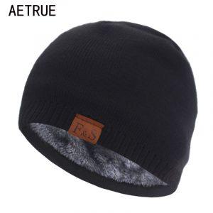 Bonnet de marque tricoté pour homme et femme, épais et chaud, collection hiver
