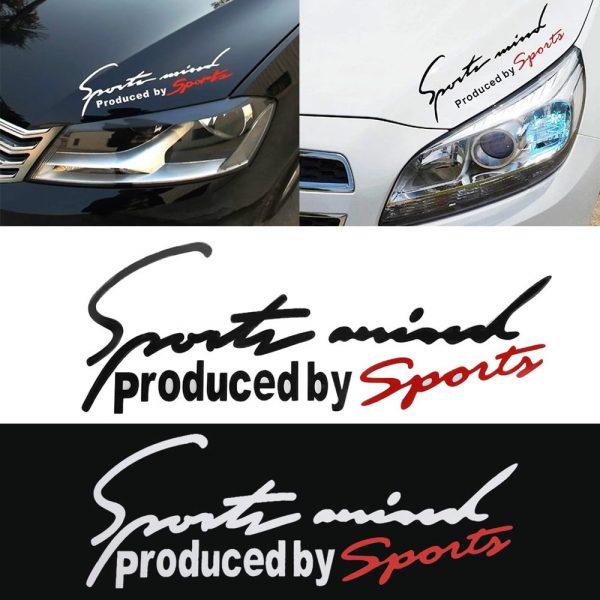 Sport Letter Car Stickers Emblem Badge Decal Auto Automobile Bonnet Sticker Car-styling for Audi BMW Benz VW Sport AMG