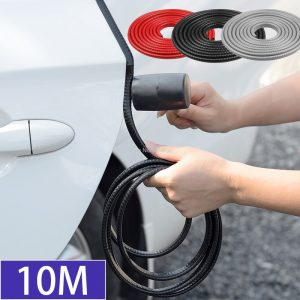 10m Car Door Anti Scratch Protector Strips Auto Sealing Guard Trim Automobile Door Edge Stickers Decorative Protector Seal Strip