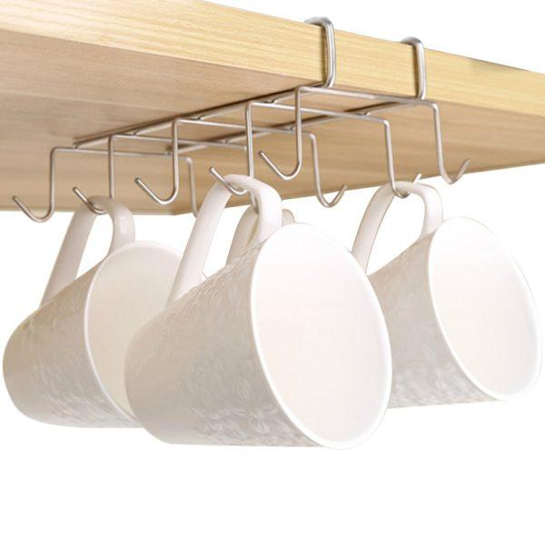 Stainless Steel Kitchen Storage Rack Cupboard Hanging Hook Hanger Shelf Dish Hanger Chest Storage Shelf Kitchen Organizer
