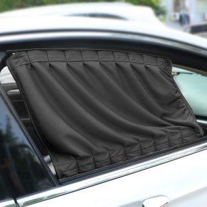 LEEPEE 2pcs/Set Auto Windows Curtain Aluminum Alloy Sun Visor Blinds Cover Car Curtain Side Window Sunshade Curtains