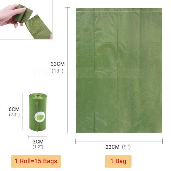 Eco-Friendly Waste Bag Holder Dispenser Black Biodegradable Poop Bag For Dog Cat Trash Cleaning Shit Droppings Pet Supplies