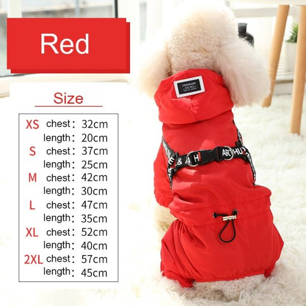 HOOPET Dog Clothes Winter Warm Pet Dog Jacket Coat Puppy Chihuahua Clothing Hoodies For Small Medium Dogs Puppy Outfit