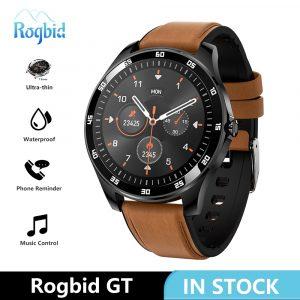 Rogdid – montre connectée GT pour hommes, entièrement tactile, étanche, moniteur d'activité physique, de fréquence cardiaque, horloge, pour Huawei Android IOS