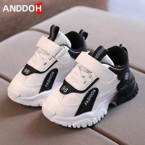 Baskets légères et décontractées avec amortisseur pour enfant, taille 21-30, chaussures résistant à l'usure et respirantes pour bébé fille et garçon, style espadrilles,