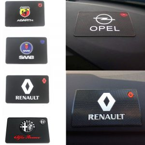 1x Car Interior Sticker Anti Slip Mat For Renault Opel SAAB Daewoo Alfa Romeo Accessories Styling Dashboard Pad