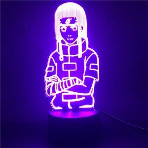Naruto Anime LED Veilleuse pour Chambre D'enfants Hyuga Neji Figure 3D Lampe Veilleuse pour Enfants Lampe de Bureau Colorée Cadeaux De Noël