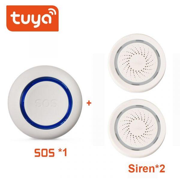 TUYA WiFi SOS Button Wireless SOS Emergency Button Alarm Home Burglar Alarm Sensor 2.4G SOS Senspr Panic Button Sos