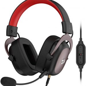 Redragon – casque de jeu filaire Zeus, en mousse à mémoire de forme, 7.1 degrés, avec microphone amovible, pour PC, PS4 et Xbox One, H510