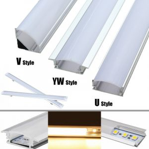 LED Bar Lights Aluminum Channel Holder Milk Cover End Up Lighting Accessories 50cm Lampshade for LED Strip Light Lamp Covers