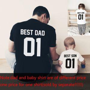 Hauts pour père et fils, t-shirts Best Friends, look de famille s'adapte parfaitement à la taille, vêtements assortis