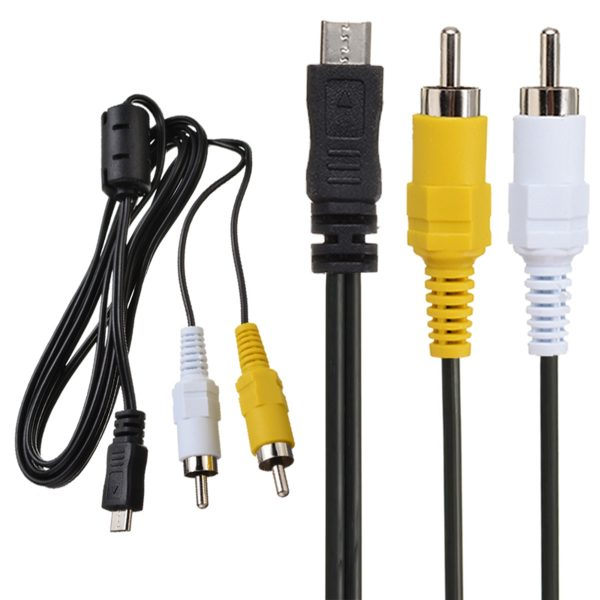 Micro USB Male to 2 RCA AV Adapter Audio Video Cable Cord 150cm For Mobile Phone LG Nitro HD NOKIA N10 HUAWEI Ascend p1
