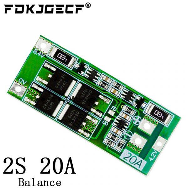 Carte de protection de batterie au lithium BMS/standard/balance, 2S, 3A/4A/5A/8A/10A/13A/20A, 7,4 V-8,4 V, Li-ion 18650,