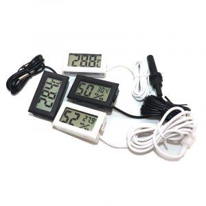 Mini thermomètre numérique LCD d'intérieur, capteur de température pratique, hygromètre, jauge