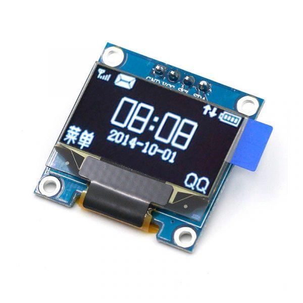 Module d'affichage oled blanc série IIC 0.96 pouces, 12864x64, I2C, SSD1306, écran LCD, GND, VDD, SCK, SDA, pour Arduino