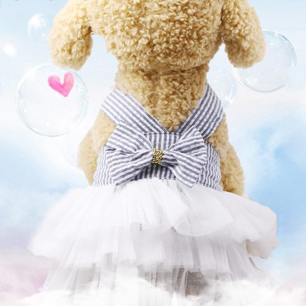 Summer Dress for Dog Pets Dog Clothes Chihuahua Wedding Dress Skirt Puppy Clothing Spring Dresses for Dogs Jean Pet Clothes XS-L