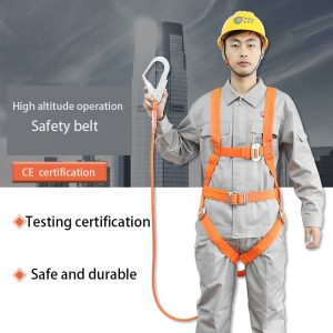 High-Altitude Safety Belt Outdoor Fall Protection Rope Suit Construction Site Electrician Safety Belt Five-Point Wear-Resistant