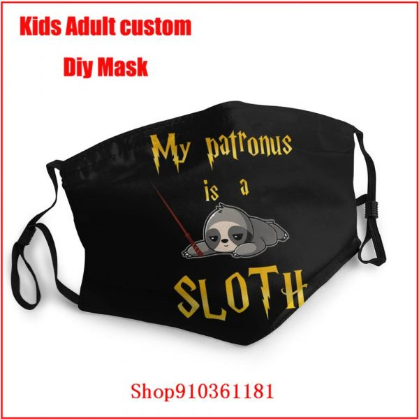 My Patronus Is A Sloth cloth face masks protective protective mask for face Not for anti-virus Cotton Face Mouth Mask