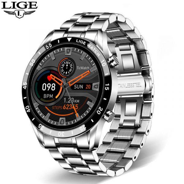 LIGE – montre connectée de Sport pour IOS et Android Honor, Bracelet d'activité physique, étanche, avec Bluetooth, appel, nouveau, 2021