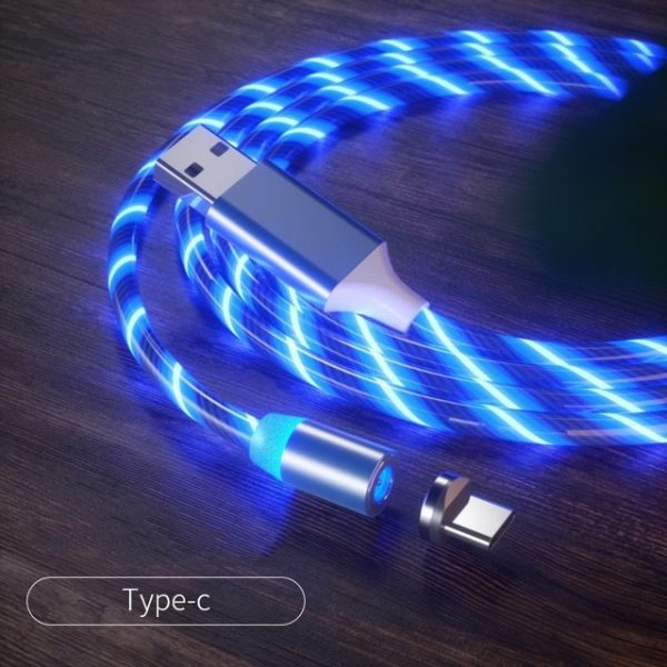 USB phone cable Car Phone charger Mobile Phones cable car data line Streamer data cable fast charging 360 degree magnetic