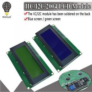 Module LCD rétro-éclairé bleu vert, série IIC/I2C/TWI 2004, pour Arduino UNO R3 MEGA2560 20X4 LCD2004
