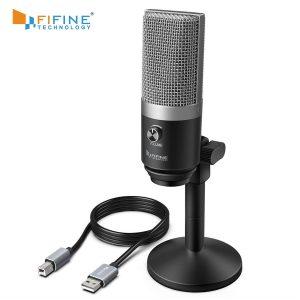 FIFINE – Microphone USB K670 pour ordinateur portable et portable, pour enregistrement, Streaming, Twitch, voix off, Podcasting, Youtube, Skype