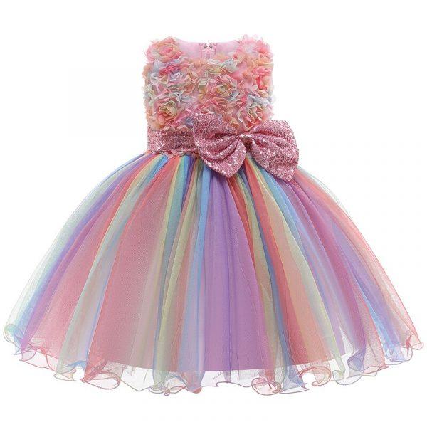 Robe de princesse brodée pour filles, tenue de fête d'anniversaire élégante, vêtements de noël pour bébés de 2 à 10 ans