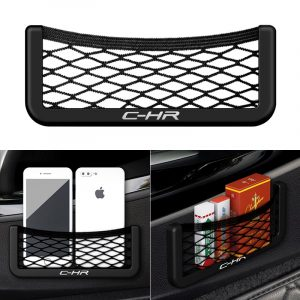 1Pcs Car Organizer Storage Bag Auto Paste Net Pocket Phone Holder for TOYOTA C-HR CHR C HR Car Accessories Universal