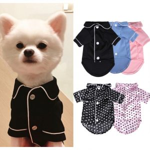 XS-XL Pet Dog Pajamas Winter Dog Jumpsuit Clothes Cat Puppy Shirt Fashion Pet Coat Clothing For Small Dogs French Bulldog Yorkie