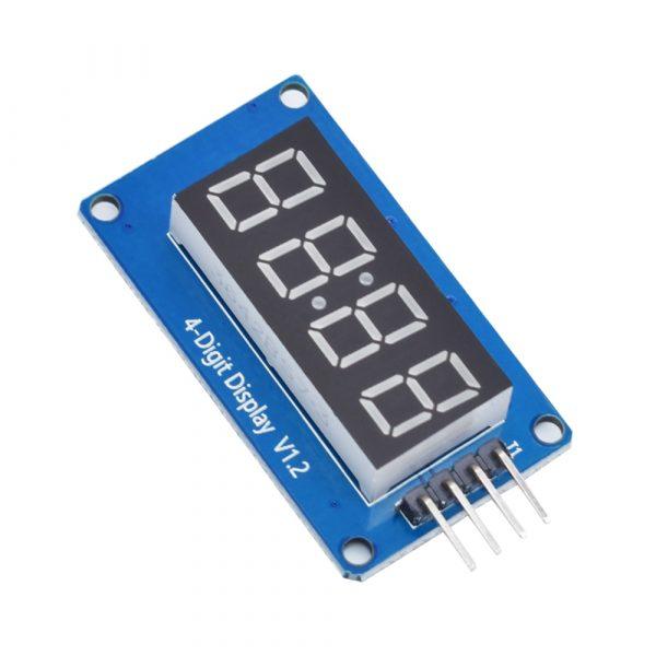 Module d'affichage LED pour Arduino, 0,36 pouces, 7 segments 4 chiffres, pièce d'horloge à anode rouge, tube numérique, quatre pilotes de série, TM1637